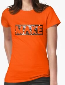 Make Womens Fitted T-Shirt