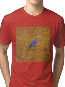 Great Blue Heron in the Grass Tri-blend T-Shirt