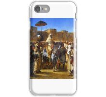 Eugène Delacroix - The Sultan of Morocco and his Entourage iPhone Case/Skin