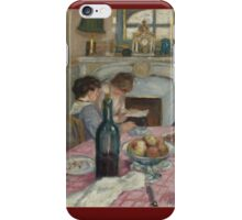 Albert Andre - After Breakfast In Renoirs  House  iPhone Case/Skin