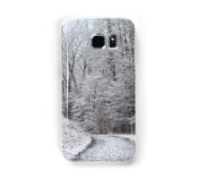 Around the Bend (snow scene in the mountains) Samsung Galaxy Case/Skin