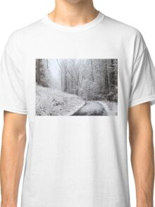 Around the Bend (snow scene in the mountains) Classic T-Shirt