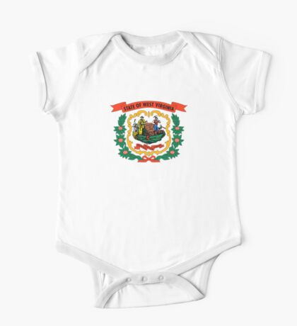 West Virginia state coat of arms One Piece - Short Sleeve