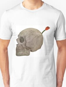 Betrayal-A skull Bomb with a flower fuse Unisex T-Shirt