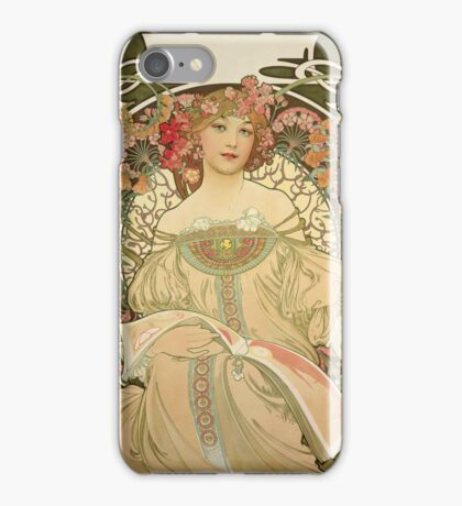 Alphonse Mucha - Champagne  iPhone Case/Skin