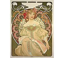 Alphonse Mucha - Champagne  Photographic Print