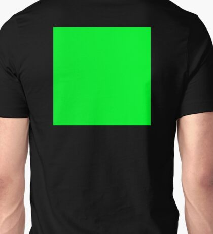 GREEN SQUARE, Green, Eco, Ecology, Ecological, Nature, Natural, on BLACK Unisex T-Shirt