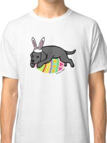 Easter Bunny Black Labrador Classic T-Shirt