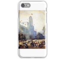 Eugene Louis Lami - The Inauguration of Crystal Palace  iPhone Case/Skin