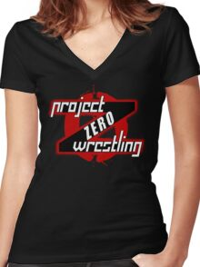 PZW [Project Zero Wrestling] Women's Fitted V-Neck T-Shirt