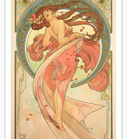 Alphonse Mucha - Dance Sticker