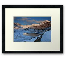 Snowdon sunrise Framed Print