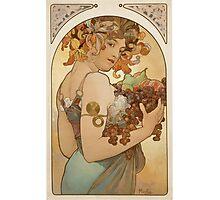Alphonse Mucha - Fruit  Photographic Print