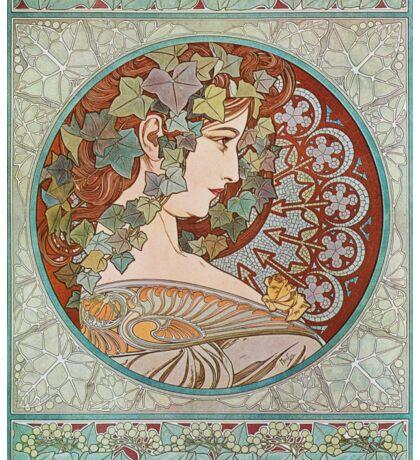 Alphonse Mucha - Ivy  Sticker