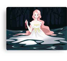 Undine, spirit of the water Canvas Print