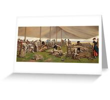 Eyre Crowe - A Sheep-Shearing Match Greeting Card