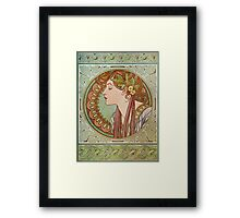 Alphonse Mucha - Laurel  Framed Print