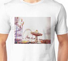 County Fair (Rollercoaster, Ferris Wheel, and High Swing) Unisex T-Shirt