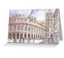 Genova, Piazza De Ferrari Greeting Card