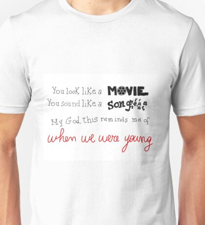 Adele When We Were Young Unisex T-Shirt