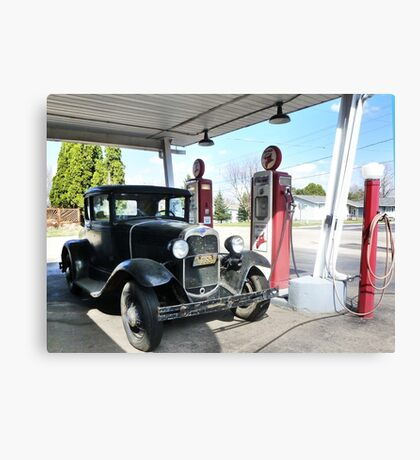 Vintage Car, Vintage Texaco Canvas Print