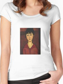 Amedeo Modigliani - Head Of A Young Girl Women's Fitted Scoop T-Shirt
