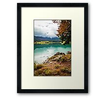 Autumn morning in the alps Framed Print