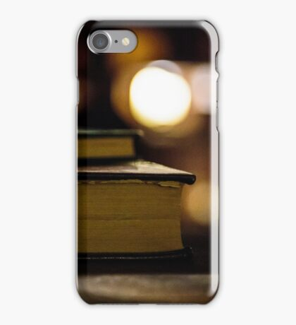 Old books at the library iPhone Case/Skin