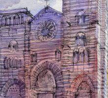 Cattedrale di Genova - schizzo di studio a colori Sticker