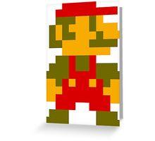 8-Bit Retro Mario Greeting Card