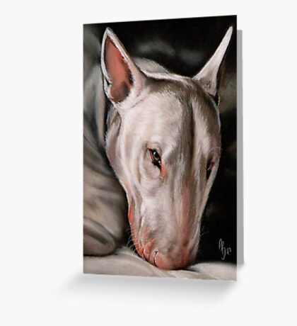 Bull Terrier Dog Hund Bully Greeting Card