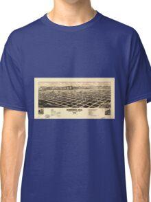 Bird's eye view of Gunnison Colorado (1882) Classic T-Shirt