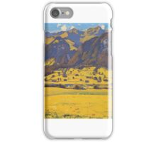 ferdinand-hodler, view of the horn of fromberg from reichenbach  iPhone Case/Skin