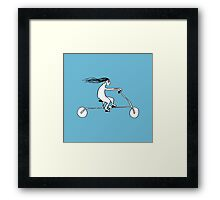 Clare In A Rush Framed Print