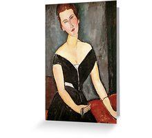 Amedeo Modigliani - Madame  Van Muyden Greeting Card