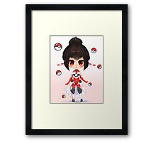 Pokeball Chibi Framed Print