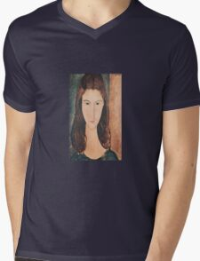 Amedeo Modigliani - Portrait Of A Young Girl Mens V-Neck T-Shirt