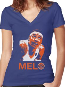 Melo Women's Fitted V-Neck T-Shirt