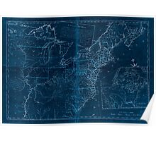 American Revolutionary War Era Maps 1750-1786 946 The United States according to the definitive treaty of peace signed at Paris Sept 3d 1783 Inverted Poster