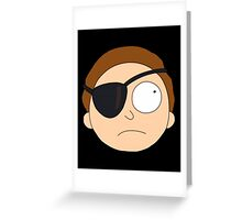 Evil Morty. Greeting Card
