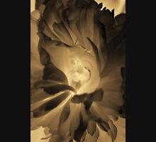 Dark flower photography in sepia Womens Fitted T-Shirt