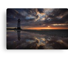 On reflection. Talacre Canvas Print