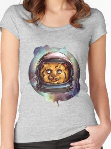 Cosmic Kitty Women's Fitted Scoop T-Shirt