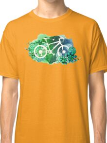 Bicycle with watercolor succulent design Classic T-Shirt
