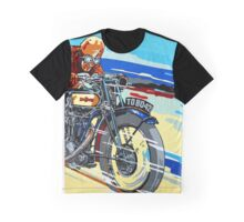 Leader of the pack, retro motorbike art Graphic T-Shirt