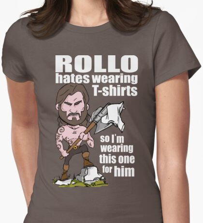Rollo hates (White text) Womens Fitted T-Shirt