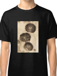 Dandelion photography in sepia Classic T-Shirt