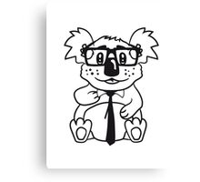 nerd geek nerd ties hornbrille pimple freak sitting nerdy koala Canvas Print