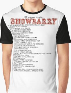 30 reasons to ship Snowbarry Graphic T-Shirt