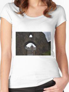 Launceston Castle.....Cornwall UK Women's Fitted Scoop T-Shirt